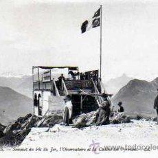 Postales: POSTAL LOURDES SOMMET DU PIC DE JER OBSERVATOIRE . Lote 16941646
