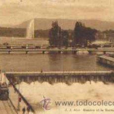 Postales: GENEVE (SUIZA) ET LE BARRAGE DU RHONE (AÑO 1014). Lote 16997605