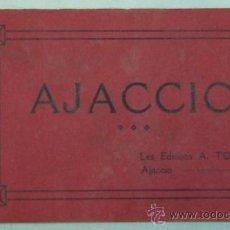 Postales: LIBRETON CON 12 POSTALES ANTIGUAS DE AJACCIO-CORCEGA-FRANCIA-LES EDITIONS A.TOMASI. Lote 17197453