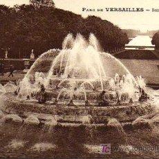 Postales: POSTAL ANTIGUA - PARC DE VERSAILLES - BASSIN DE LATONE. Lote 17216328