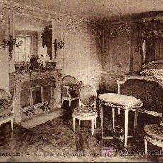 Postales: POSTAL ANTIGUA - VERSAILLES - CHAMBRE DE MARIE ANTOINETTE AU PETIT TRIANON. Lote 17216638