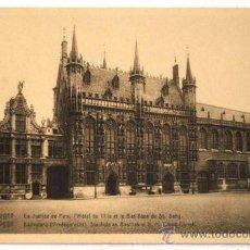 Postales: POSTAL BRUGES LA JUSTICE DE PAIX L HOTEL DE VILLE ET LA BASILIQUE DU ST SANG. Lote 17337441