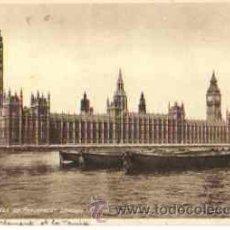 Postales: LONDON - THE HOUSES OF PARLIAMENT (CIRCULADA EN 1930). Lote 17453572