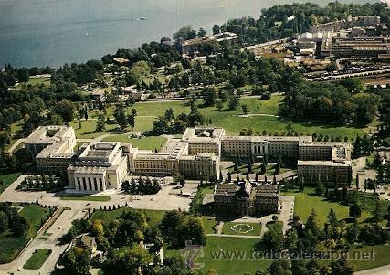 Geneve suiza le palais des nations et le bu comprar postales