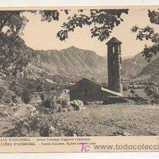 Postales: ANDORRA. VALLS D'ANDORRA. SANTA COLOMA. ESGLÉSIA ROMÀNICA. (FOT. V. CLAVEROL). Lote 18289686