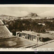 Postales: GRECIA - ATENAS - ESTADIO Y ACROPOLIS - EDITIONS DELTA - SÍN CIRCULAR. Lote 18363125