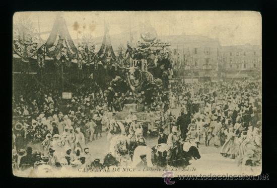 CARNAVAL DE NIZA - NICE - XXXVIII - CIRCULADA 1909 (Postales - Postales Extranjero - Europa)