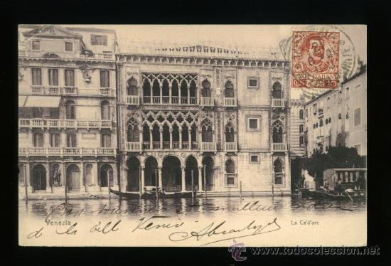 VENEZIA - VENECIA - LA CA´D´ORC - CIRCULADA 1908 (Postales - Postales Extranjero - Europa)
