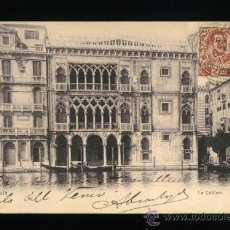 Postales: VENEZIA - VENECIA - LA CA´D´ORC - CIRCULADA 1908. Lote 18394457