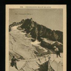 Postales: CHAMONIX - MONT BLANC - GLACIER D´ARGENTIÈRE - CIRCULADA 1936. Lote 18394664