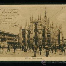 Postales: ITALIA - MILANO - MILAN - PIAZZA DUOMO - CIRCULADA 1927. Lote 18399629
