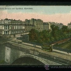 Postales: UNION TERRACE AND GARDENS - ABERDEEN - CIRCULADA 1907. Lote 18399798