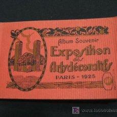 Postales: ALBUM SOUVENIR - EXPOSITION DES ARTS DECORATIFS - PARIS 1925 - (20 POSTALES). Lote 26901517