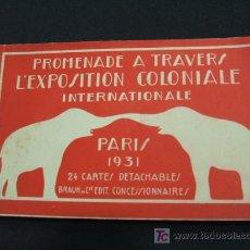 Postales: L'EXPOSITION COLONIALE INTERNATIONALE - PARIS 1931 - (24 POSTALES). Lote 26718228