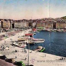 Postales: MARSEILLE (FRANCIA) - QUAI DES BELGES ET NOTRE-DAME DE LA GARDE AÑOS 50. Lote 18698758