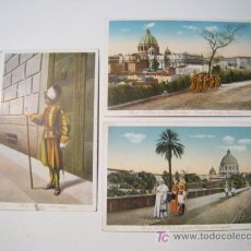 Postales: ROMA - ROME - LOTE 3 POSTALES ILUSTRADAS. Lote 18893236