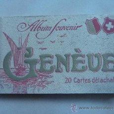 Postales: ALBUM SOUVENIR DE GENEVE (GINEBRA). 20 POSTALES. EN BLANCO Y NEGRO. BUENAS Y ANTIGUAS.. Lote 22559327