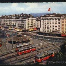Postales: POSTAL DE GENEVE (SUIZA) Nº 168 PLAZA DE CORNAVIN. Lote 19227815