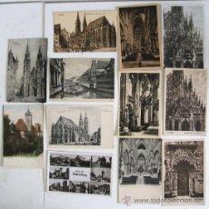Postales: 13 POSTALES ALEMANES DE NURNBERG ( 11 SIN CIRCULAR). Lote 20204616