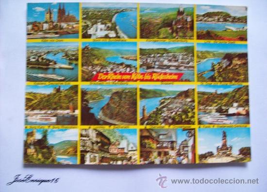 DER RHEIN VON KÖLN RUDESHEIM - RAHMEL KARTE 603 (Postales - Postales Extranjero - Europa)
