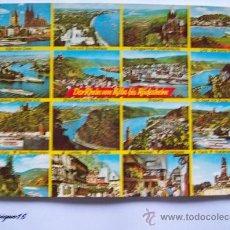Postales: DER RHEIN VON KÖLN RUDESHEIM - RAHMEL KARTE 603. Lote 19718091