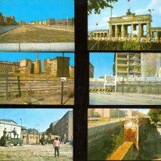 Postales: BERLIN. ¡ASÍ ERA EL MURO DE LA VERGÜENZA!. 10 VISTAS COLOR, C. 1975 (?). Lote 27524567