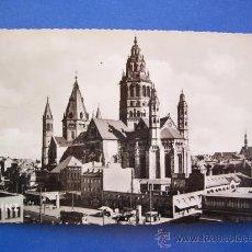 Postales: POSTAL ALEMANA: MAINZ - DOM (CIRCULADA 1955, ZIETHEN). Lote 20301540