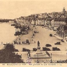 Postales: BOULOGNE-SUR-MER (FRANCIA) - VUE GENERALE DU QUAI GAMBETTA. Lote 20312387