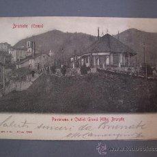 Postales: POSTAL ITALIANA: BRUNATE (COMO) - PANORAMA E CHALET GRAND HOTEL BRUNATE - G.MEDIANO E CO, 1903. Lote 20723011