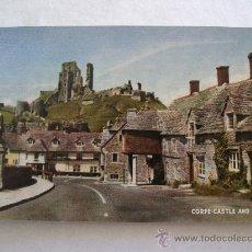 Postales: POSTAL INGLESA: CORFE CASTLE AND VILLAGE (SIN CIRCULAR, SALMON SERIES 926C, AÑOS 50 APROX). Lote 20929913