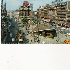 Postales: BRUXELLES - LA PLACE DE BROUCKERE. Lote 21019639