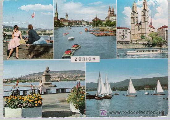 ZURICH.- FRANQUEADO Y FECHADO EN ZURICH EN 1967. (Postales - Postales Extranjero - Europa)