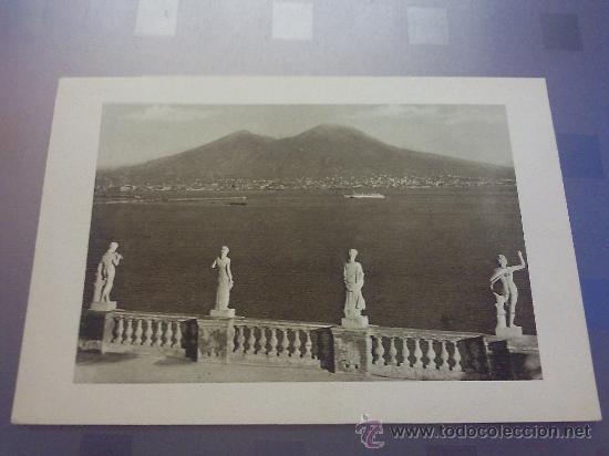 Antigua Postal Vista Del Golfo E Vesuvio Dalla Terrazza Dell Hotel Excelsior Napoli Napoles