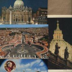 Postales: LOTE 4 POSTALES VATICANO.ROMA. PAPA PABLO VI. PLAZA SAN PEDRO.. Lote 50780383