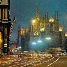 Postales: MILANO (ITALIA) - PIAZZA DUOMO (NOTTURNO). Lote 21551457