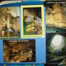 Postales: LOTE 5 POSTALES GOUFFRE DE PADIRAC (LOT.- FRANCIA). Lote 21749124