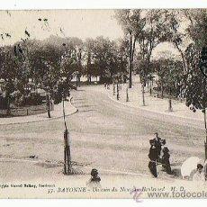 Postales: POSTAL DE BAYONNE FRANCIA, BASKO FRANCES BOULEVARD, EDIT. M.D. SELLADA Y RESELLADA, AÑO 1920. Lote 27243193