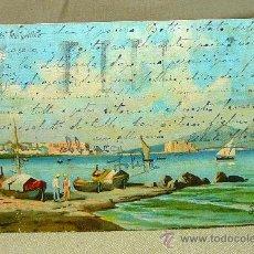 Postales: ANTIGUA POSTAL, ITALIA, NAPOLI DA MERGELLINA, CIRCULADA, 1930S. Lote 22354712