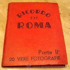 Postales: ROMA, LIBRILLO DE 20 POSTELES, SIN EDITOR, TAMAÑO 10 X 7, ANTIGUAS, AÑOS 1920-1930, SON FOTOGRAFIAS. Lote 26901478