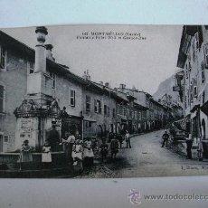 Postales: POSTAL FRANCESA: MONTMELIAN (SAVOIE) FONTAINE PILLET-WILL ET GRAND-RUE (L.BLANC,MONTMELIAN). Lote 22359073
