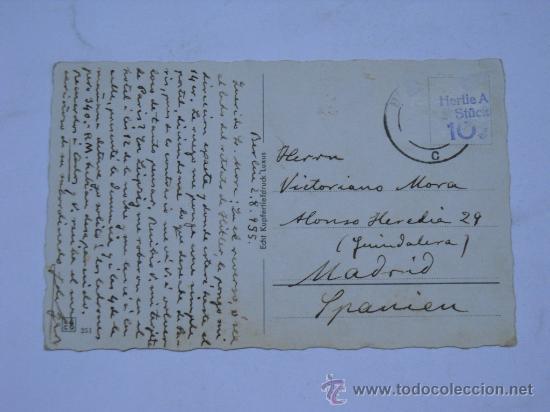 Postales: POSTAL ALEMANA CON FOTOGRAFIA DE ADOLF HITLER .BERLIN REICHHANZLERPALAIS.CIRCULADA 1935 - Foto 2 - 26621017
