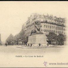 Postales: PARIS- LE LION DE BELFORT. Lote 22787126