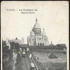 Postales: PARIS.- LA BASILIQUE DU SACRE COEUR.. Lote 22804291