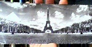TOUR EIFFEL(PARIS).5010.ALFA.CIRCULADA.AÑOS 50.POSTAL ALARGADA-22,5X8,5 CMS-. (Postales - Postales Extranjero - Europa)