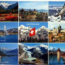 Postales: SUIZA. SWITZERLAND. NUEVE VISTAS.. Lote 23527212