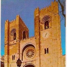 Postales: POSTAL A COLOR LISBOA PORTUGAL LA CATEDRAL. Lote 23667798