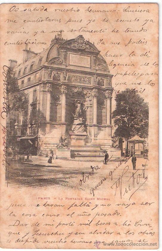 TARJETA POSTAL. FRANCIA. PARIS.LA FONTAINE SAINT MICHEL. A. TARIDE. (Postales - Postales Extranjero - Europa)