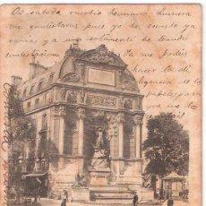Postales: TARJETA POSTAL. FRANCIA. PARIS.LA FONTAINE SAINT MICHEL. A. TARIDE. . Lote 26638333