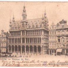Postales: TARJETA POSTAL. BELGICA. BRUXELLES. MAISON DU ROI. . Lote 23959580