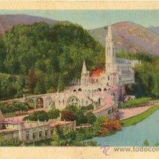 Postales: 4261 - LOURDES - VUE D ENSEMBLE DE LA BASILIQUE - EDIT P.DOUCET. Lote 24240906